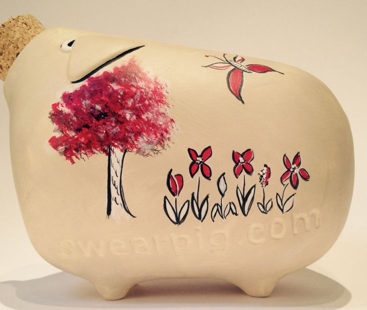 Hand painted piggy banks. #SPCL starts 13th Apr