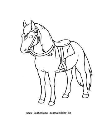 Ausmalbild Pferd 2