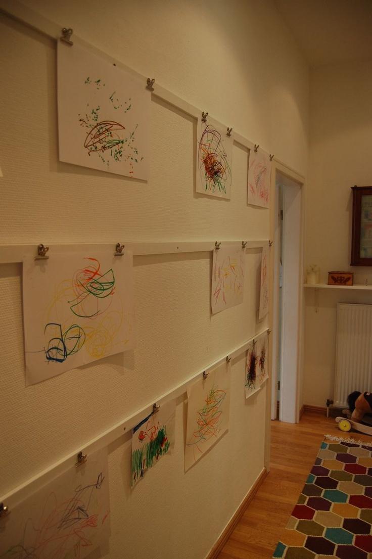 Aufhängung für Kinderkunst