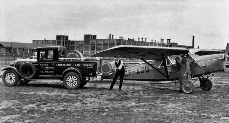 """""""An urgent shipment of cable by air"""" - Canada Wire and Cable Company, located beside the Leaside Aerodrome, sometimes used the handy location to its advantage. - Excerpt from book, The Story of Leaside, 1931. Courtesy of the Toronto Public Library."""