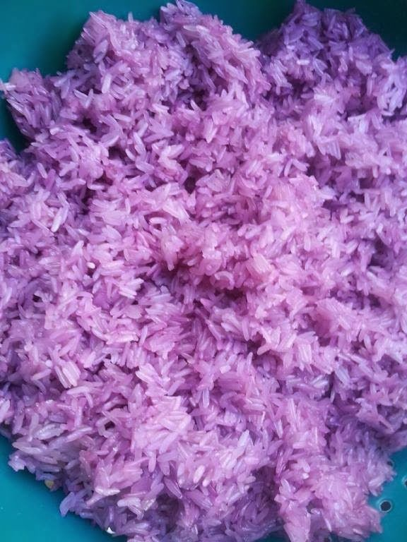 Hmong Can Cook: Purple Sticky Rice with Coconut Milk