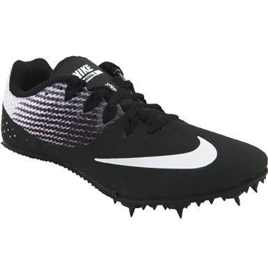 Nike Zoom Rival S 8 Racing Flats - Mens Black Black White  6f0a09297