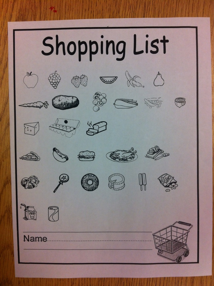 28 best grocery store dramatic play images on Pinterest - grocery list form