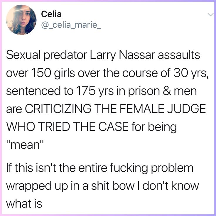 "Men who think the judge was ""mean"" more than likely don't believe a crime was actually committed, and THAT is the crux of the problem right there."