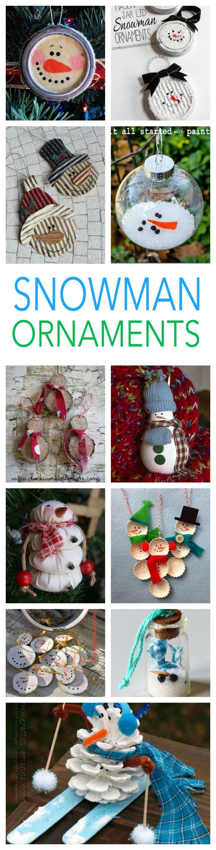 27 Diy Snowman Ornaments For Christmas: Snowman Ornament Crafts
