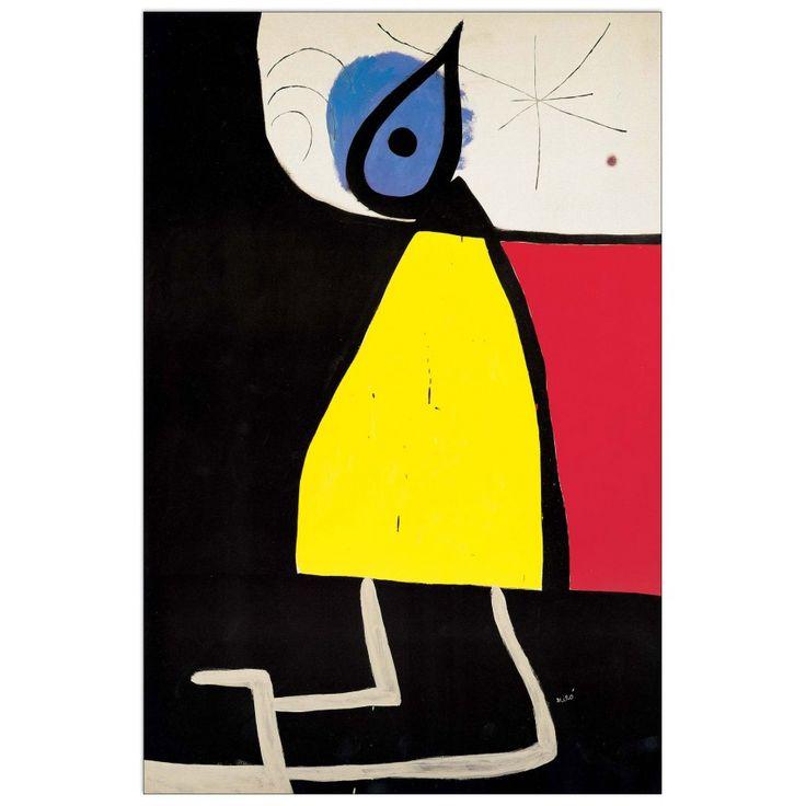 MIRÒ - Woman at night 1973 42x63 cm #artprints #interior #design #art #print #iloveart #followart #artist #fineart #artwit  Scopri Descrizione e Prezzo http://www.artopweb.com/autori/joan-miro/EC22008