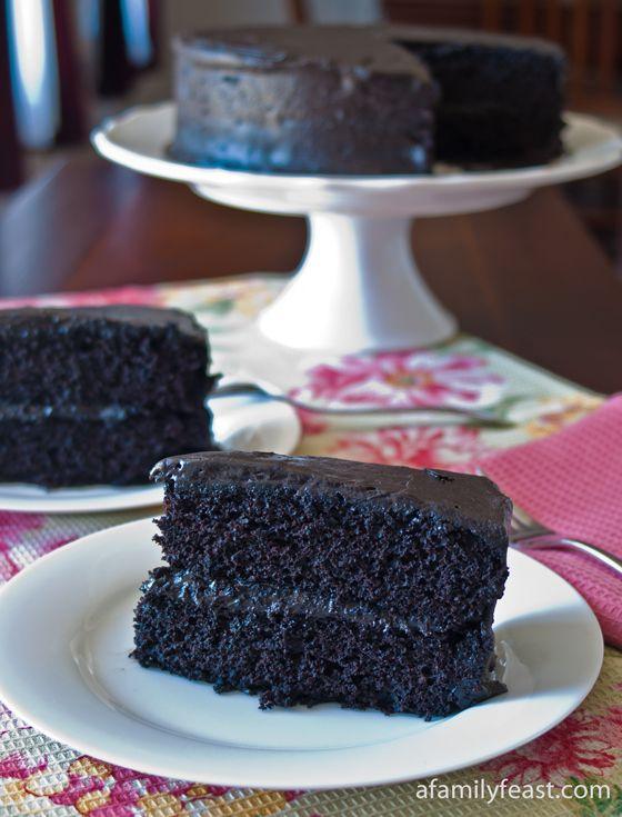 Black Midnight Cake - A Family Feast