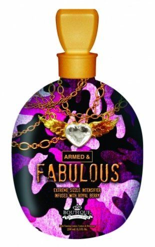 2012 Armed & Fabulous Extreme Sizzle Accelerator 8.5oz by Designer Skin Tanning Lotion. $25.00. Green Tea and Chamomile helps soothe and prepare skin for dark color. Royal Berry Extracts filled with antioxidants help repair and tone skin. Fragrance: Mora Berry. Extreme Sizzle Accelerator delivers immediate dark color through a tingle and reddening sensation. This intensifier brings the heat, with a fiery sizzle formula that is designed to deliver smoldering dark color. Add i...