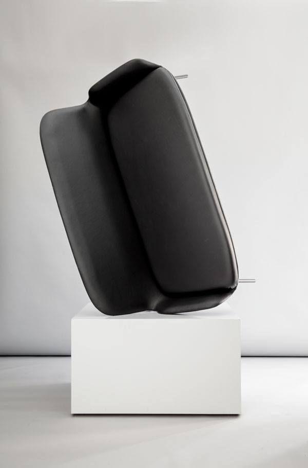 Era Sofa / Normann Copenhagen.  Sorensen Leather: Tango / Black. Photo: Jonas Bjerre-Poulsen / #NORMarchitects #normanncopenhagen #sorensenleather