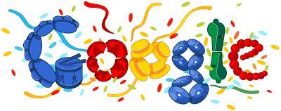 """Google ya nos acostumbro a sus llamados """"doodles"""" ... Esto no es mas que un """"juego"""" con el diseño del logotipo corporativo, con la finalidad de celebrar ocasiones especiales."""