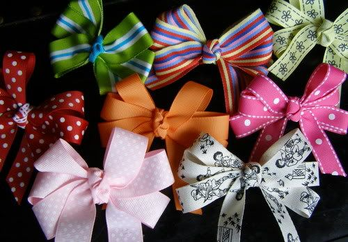 how to make hairbows...as if I didn't have enough already