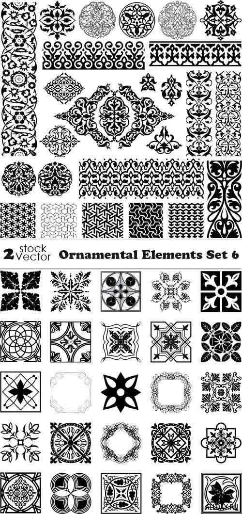 Vectors - Ornamental Elements Set 6