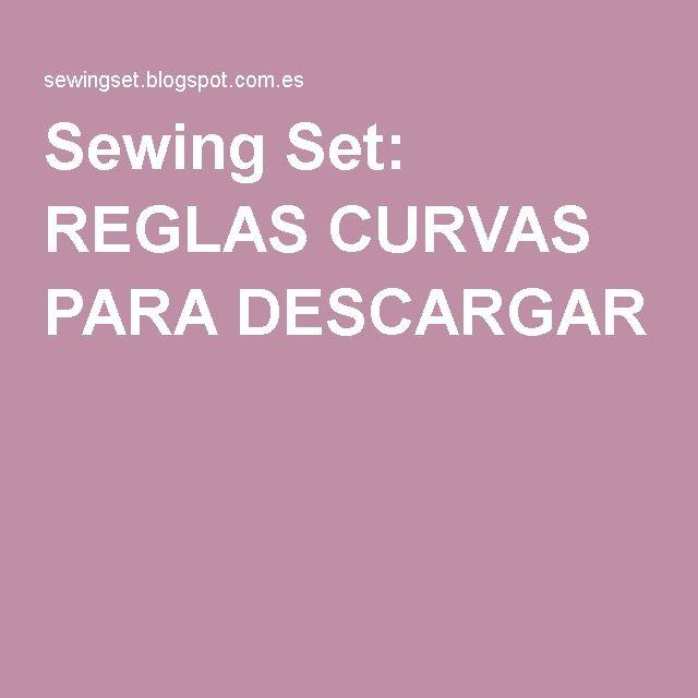 Sewing Set: REGLAS CURVAS PARA DESCARGAR