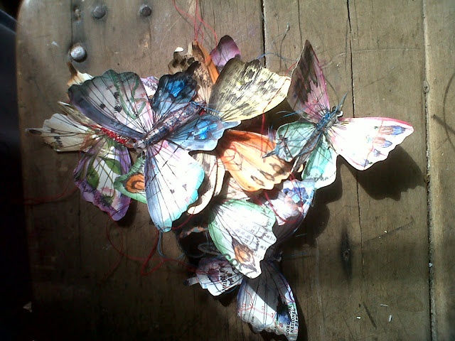 Paper and stitch butterflies