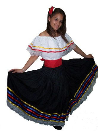traditional Colombian dresses. Image: Crazy for Costumes.