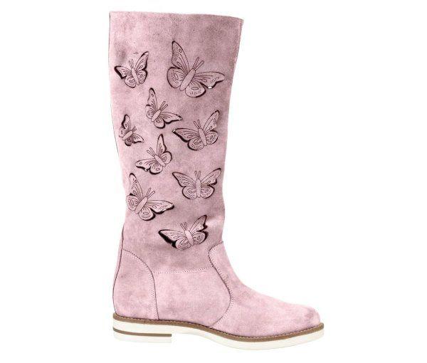 Cizme de vara lungi model perforat fluturi din piele Roz - ->>> http://www.mujer.ro/cizme-de-vara-lungi-model-perforat-fluturi-din-piele