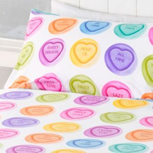 Love Hearts Hug Me Duvet Cover Set Single At Argos Co Uk