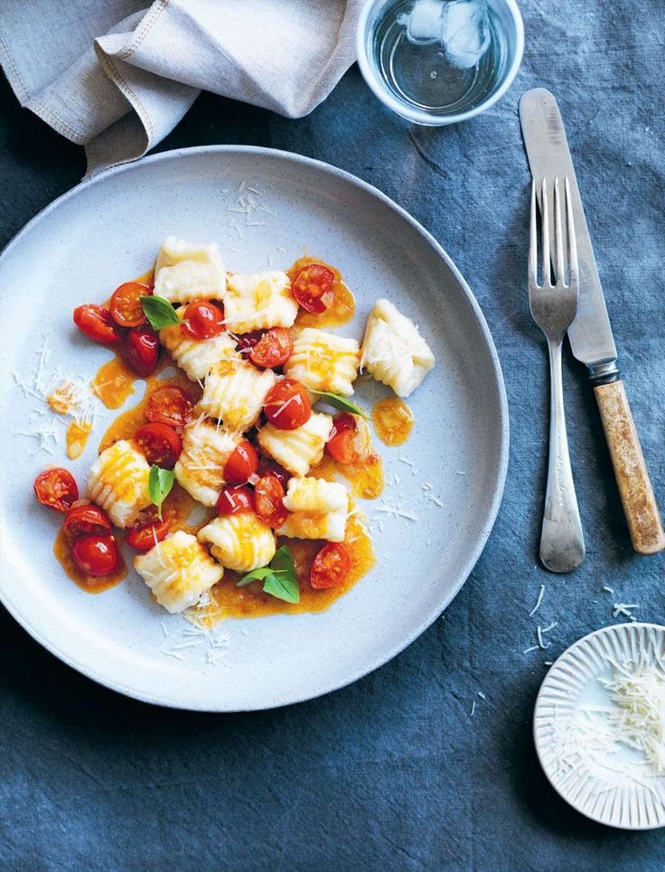Ricotta gnocchi with cherry tomato sauce by Louise Fulton Keats from Something For Everyone | Cooked