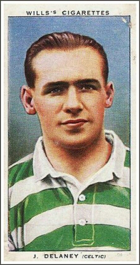 Jimmy Delaney of Celtic in 1938.