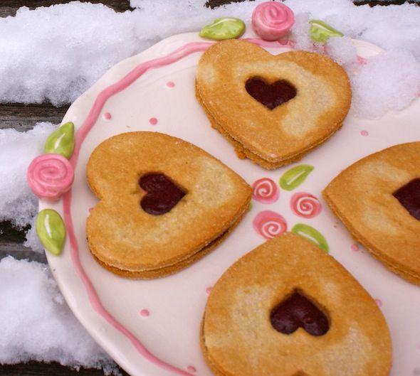 GF Valentine Linzer Hearts (SCD/GAPS): Valentine'S Day, Valentines Cookies, Free Valentines, Valentines Linzer, Heart Cookies, Valentines Day, Gluten Free, Linzer Heart, Paleo Recipes