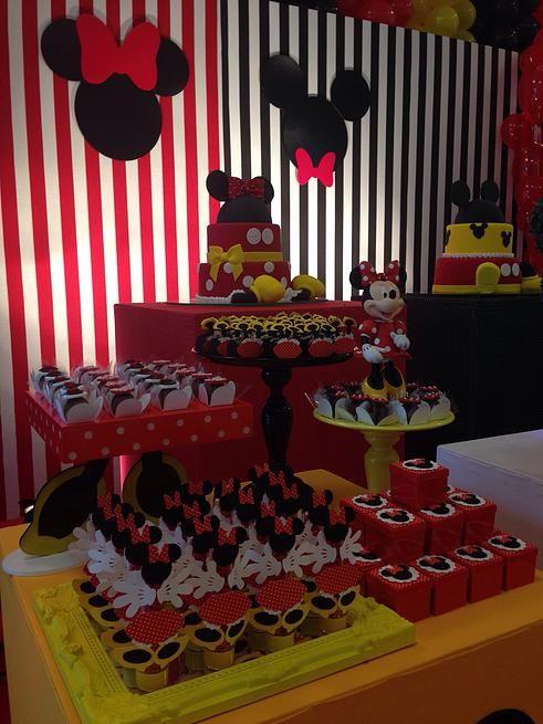 Criancices Festas e Eventos   Decoração Festas Infantis Recife   Mickey and Minnie