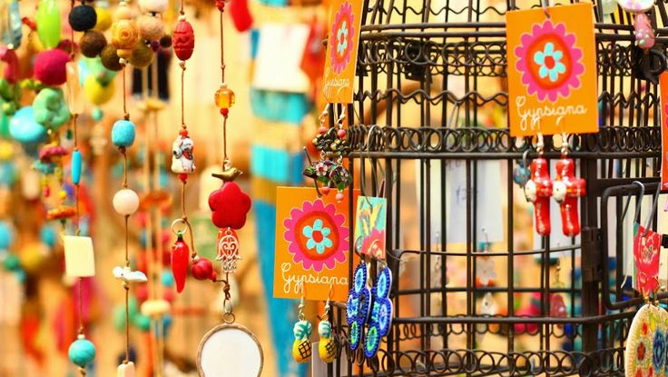 Beautiful necklaces arranges onto a bird cage