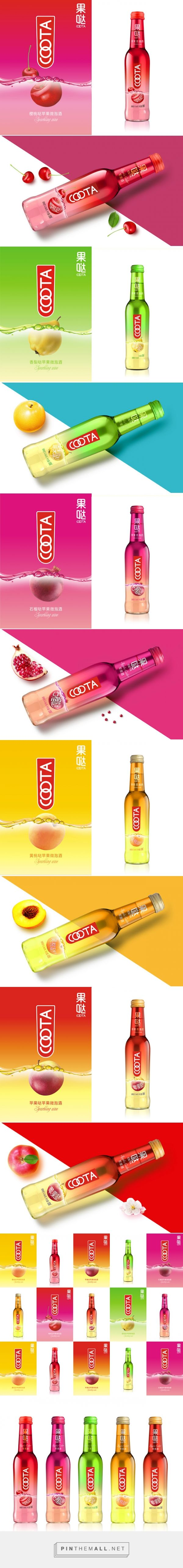COOTA Cider  Packaging of the World - Creative Package Design Gallery - http://www.packagingoftheworld.com/2015/08/coota-cider.html