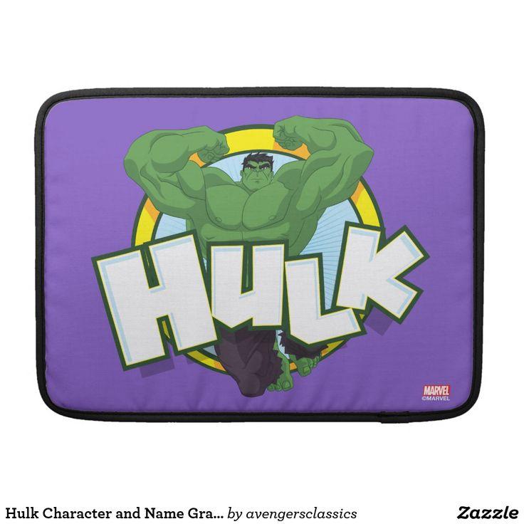 Hulk Character and Name Graphic