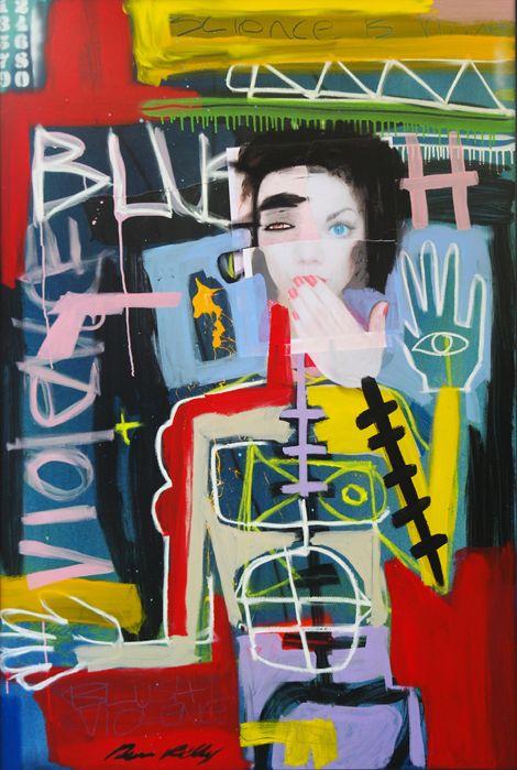 The Science is Hurt 100 x 150cm by artist Dean Reilly redhillgallery.com.au