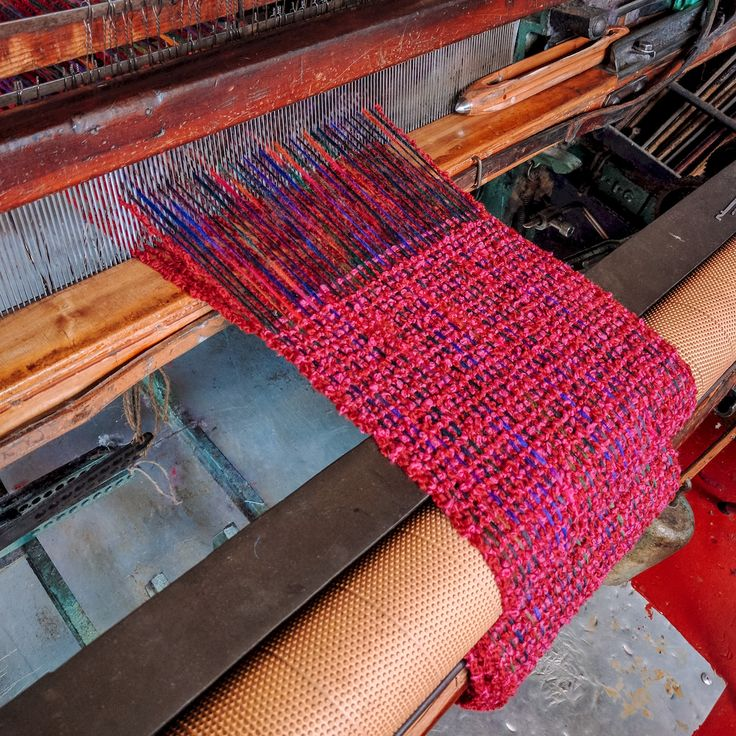 Our Bubble scarf in production! Now on sale exclusively on our website  | McKernan Woollen Mills | Handmade in Ireland | Irish Design | Mens and Womens scarves and accessories