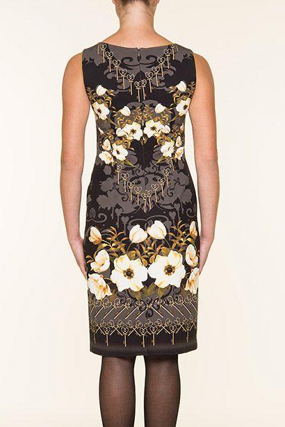 Φλοράλ αμάνικο φόρεμα