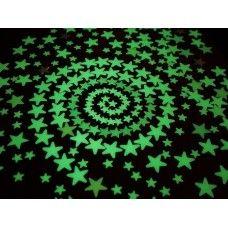 Plafonra, falra ragasztható foszforeszkáló, világító csillagok, hold. Gyerekszoba dekoráció - ajándék ötlet