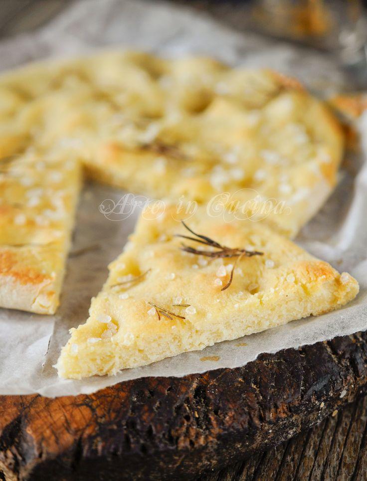 Focaccia con patate al rosmarino veloce vickyart arte in cucina