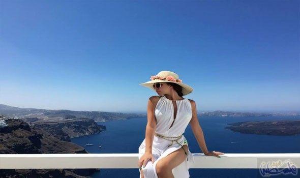 منزل الفنانة اللبنانية ميريام فارس في اليونان Fashion Myriam Fares Panama Hat
