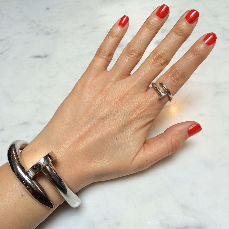 Aldo Cipullo For Cartier Juste Un Clou Nail Bracelet + Ring | Jewelry | Pinterest | Bracelets ...