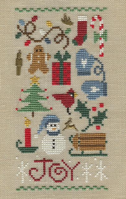christmas sampler insp. looks like Lizzie Kate design??