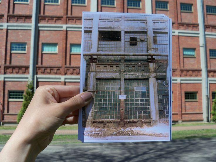 Przeszłość i przyszłość na jednym zdjęciu. Zdewastowany budynek pofabryczny, zanim wyremontowano go na potrzeby Biblioteki