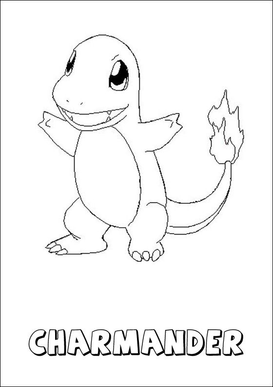 Printable coloring page Pokemon Charmander Coloring