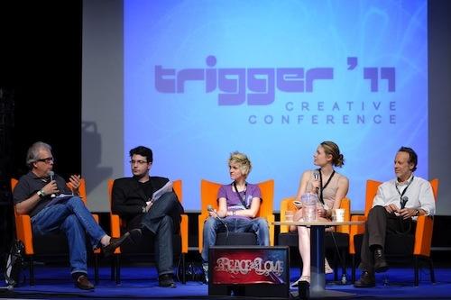 Trigger Creative Conference är Sveriges enda musikkonvent och anordnas under Peace & Love:s festivaldagar.  Där samlas musikbranschen för att delta i workshops, föreläsningar och debatter.