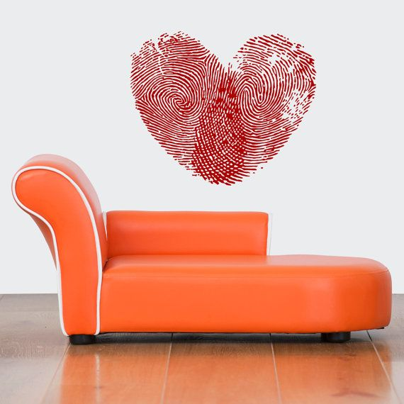 Wall Vinyl Sticker Decals Mural Room Design Heart  Love Romantic bo019