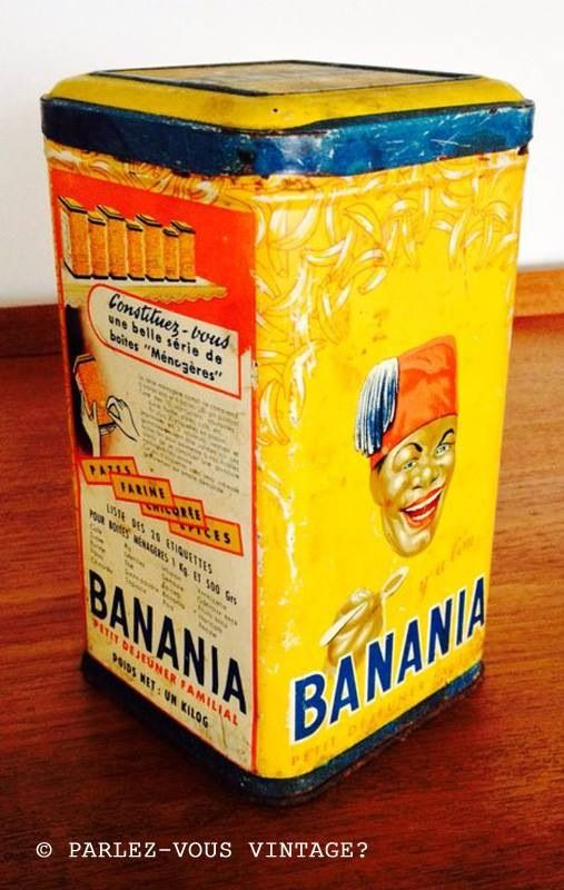 "Boîte metallique ""Banania"", années 60"