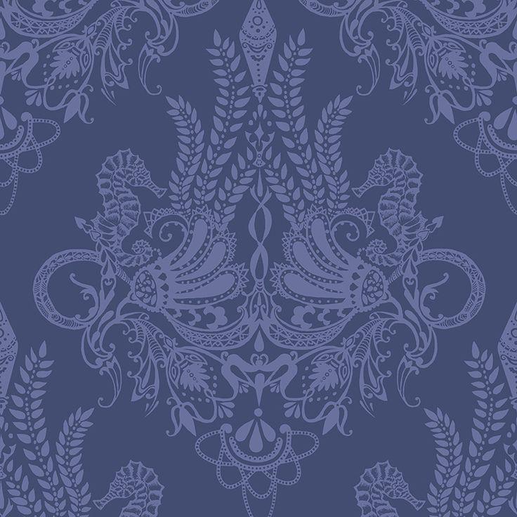 Syvämeri blue by Matleena Issakainen - Wallpapers / Tapetit