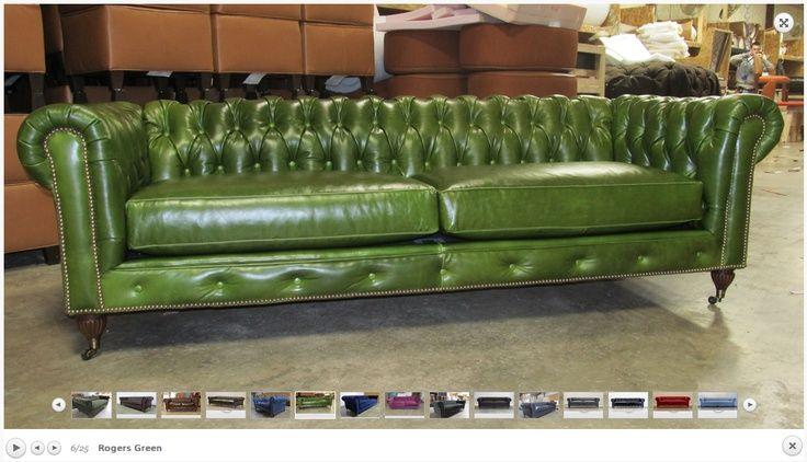 Amazing Green Leather Chesterfield Sofa Chesterfield Sofa In Rogers Green Httpcoco Green Leather Sofa Green Leather Chesterfield Sofa Chesterfield Sleeper Sofa