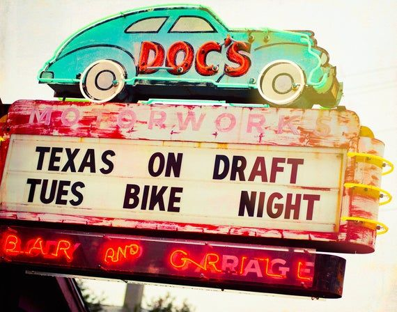 Austin Texas Mikayla Neon: Austin Photograph, Austin Texas Art, Neon Sign, Retro, Bar