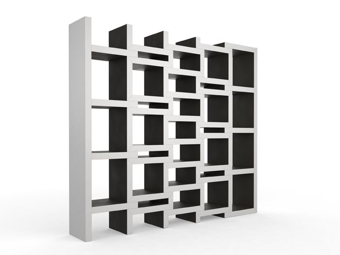 Say Hello To The Solution To All Your Book Collection Growth Pains.  Cleverly Designed By Dutch Designer Reinier De Jong, This Bookshelf Expands  As Your Col