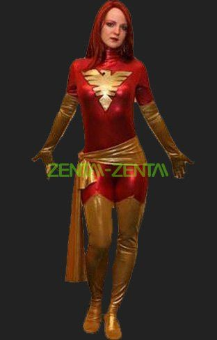 phoenix costume red and glod x man catsuit - Halloween Costumes In Phoenix