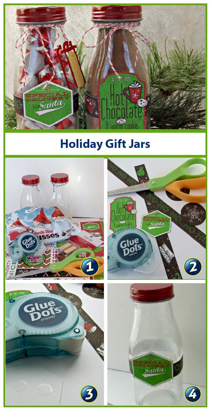 Need a quick and easy holiday gift? Pick up a few empty jars (or upcycle a few you have in the recycling bin), decorate and fill with a sweet holiday treat! Designer Donna shows you how easy it is turn jars into quick holiday gifts.:
