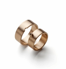 [MR Project - Nesting Rings] Wedding rings by ANNETTE DICKOW-DK Munck  perfect match-14k gold-18k,brilliant gold