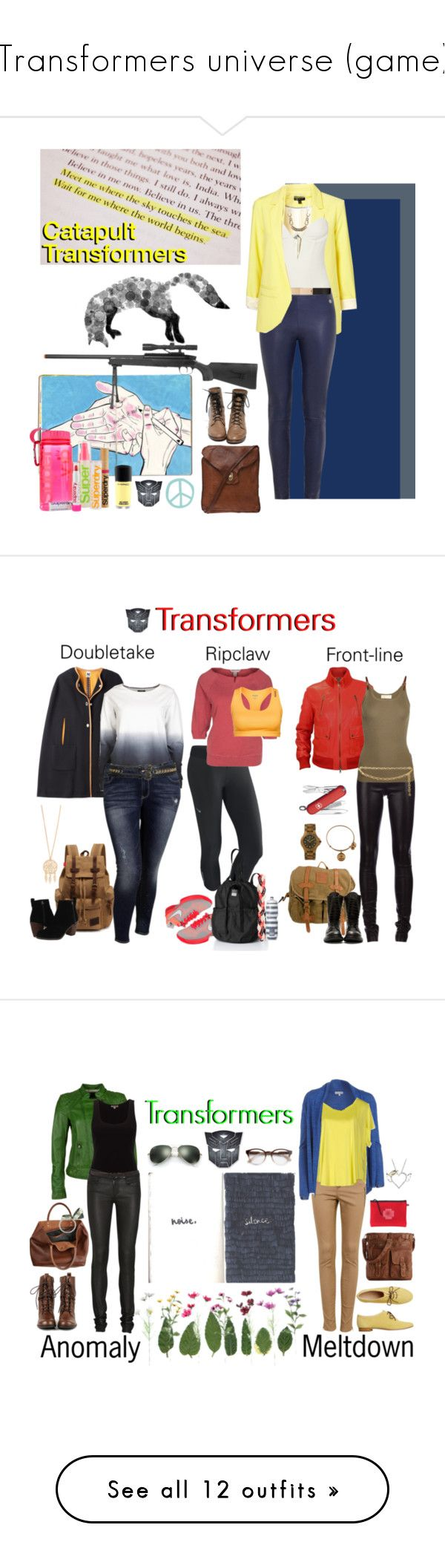 """Transformers universe (game)"" by femme-mecha ❤ liked on Polyvore featuring Willow, Roberto Cavalli, Superdry, RIFLE, Moxham, Campomaggi, MAC Cosmetics, Missoni, VILA and Old Navy"