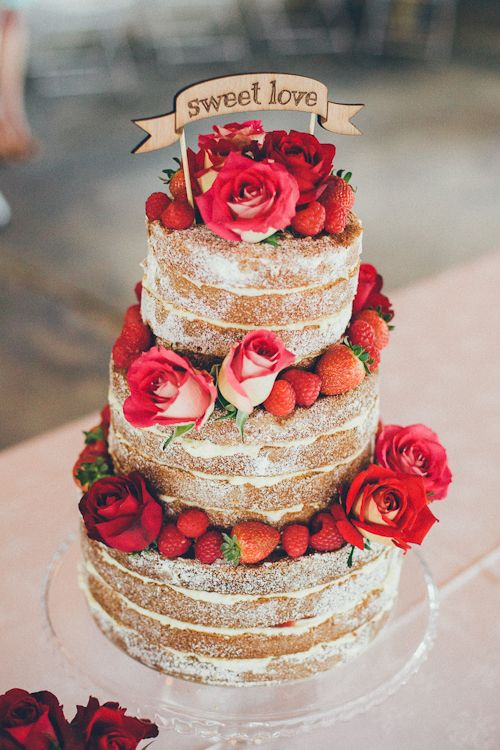 Our amazing wedding cake, made by my sister, Sugar Rose Bakery. Cake topper from Etsy.